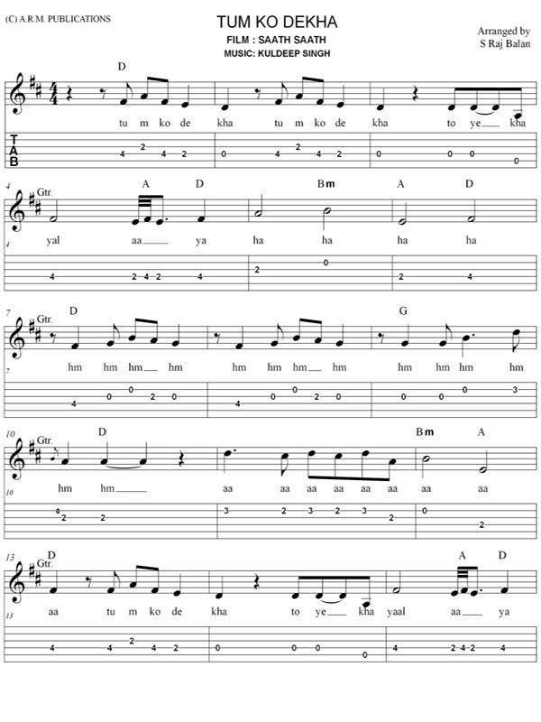 Pin On Sheet Music That's why i feel it would be amazing to start just right with the easy hindi songs on the guitar. pin on sheet music