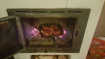 mes 3 loulous: Côte de bœuf à la cheminée
