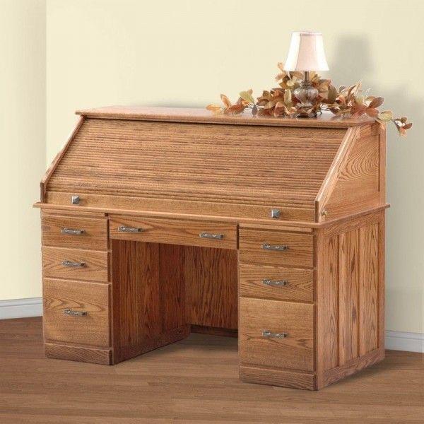 Furniture Fantastic Messenger S Roll Top Desk Design With Hidden Desk And Storage Feat Pine Woood Material Elegant Solid Wood Desk Furniture Design