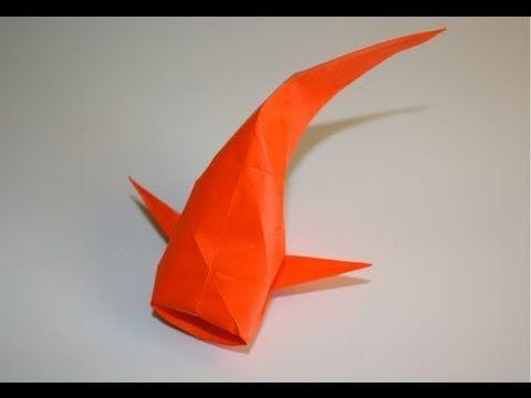 Origami - Carpe dorée