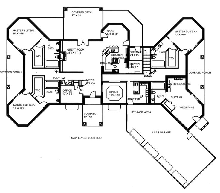 Superior First Floor Plan Of House Plan 85822