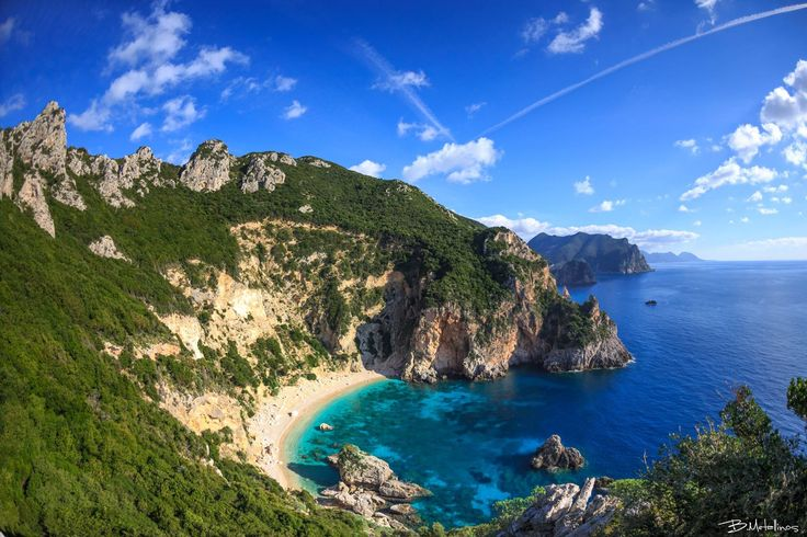 Ermones, Corfu. Photo by: Bill Metallinos. #GreenCorfu - greencorfu.com - https://pinterest.com/greencorfu/