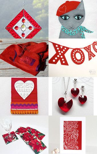 Simply Red by Carolyn on Etsy--Pinned with TreasuryPin.com