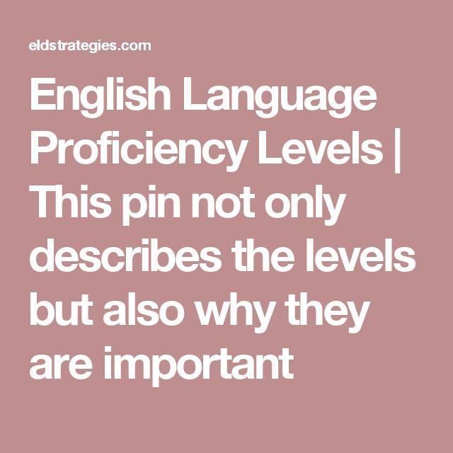 english language proficiency levels pdf