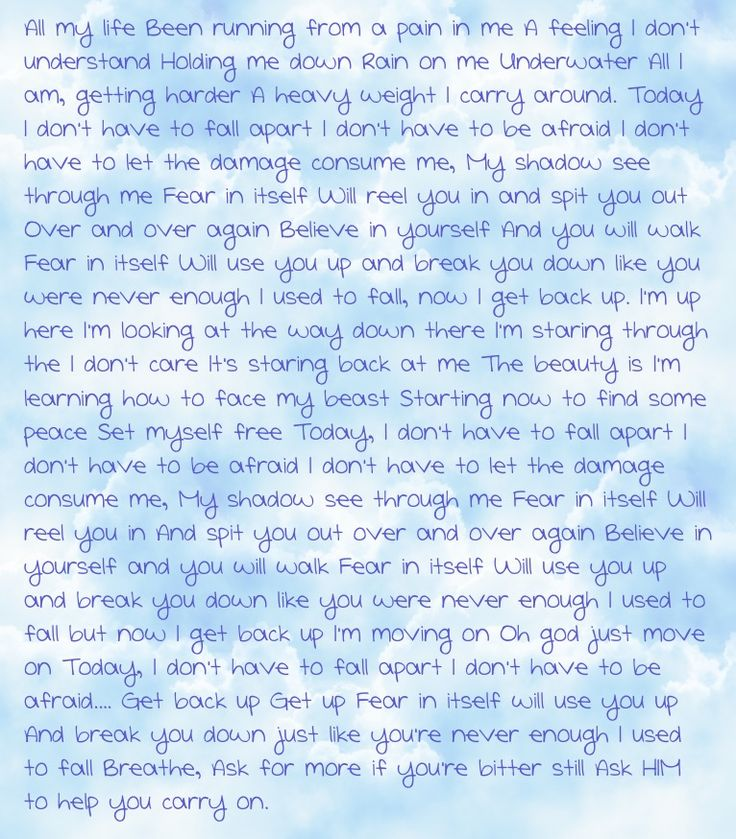 Fear lyrics - Blue October   My favorite song!  I own nothing, except the iPad that used to create the pin, and the Pinterest account to post it to. IF