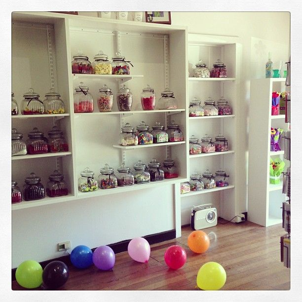 Old Fashion Lolly Shop.. Candy Jars ..