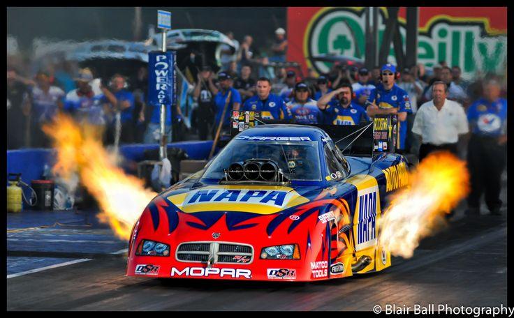 NHRA Drag Races at Memphis Motorsports Park. The NAPA parts car.