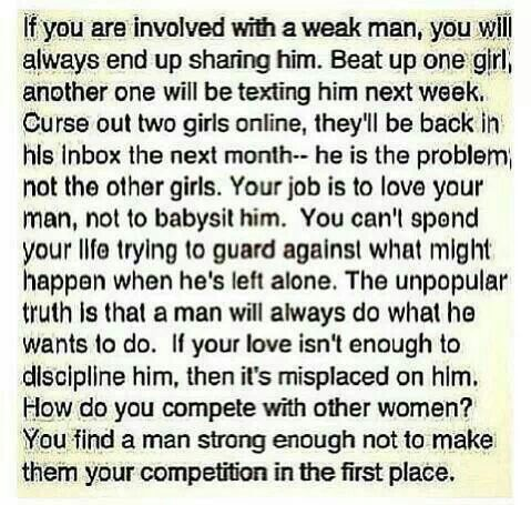I do not get the men or women who do this. That think they can control men or women. That they are forbid to be friends with someone or not go places because they might cheat.  If you do things like this you are with the WRONG person!