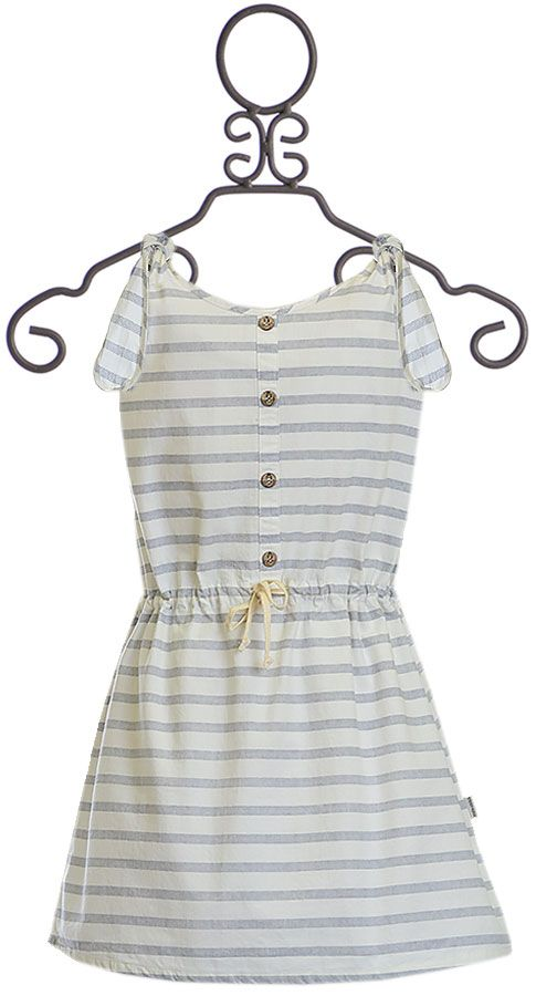 Sticky Fudge Girls Gray Striped Dress