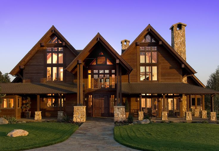 Timber frame homes home pinterest house cabin and for Ranch timber frame homes