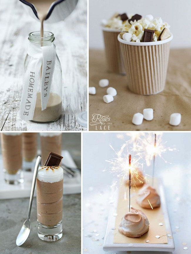 Winter wedding snacks: http://www.rosesandlace.co.uk/cinnamon-silver/