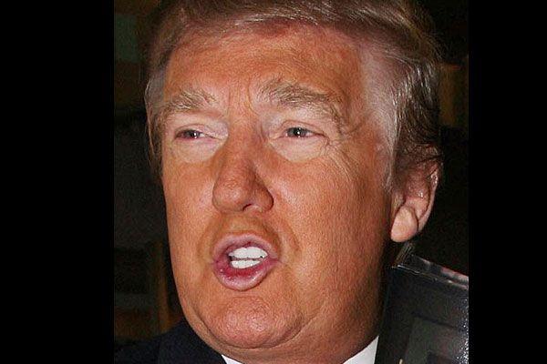 Donald Trump - tanning goggles FAIL