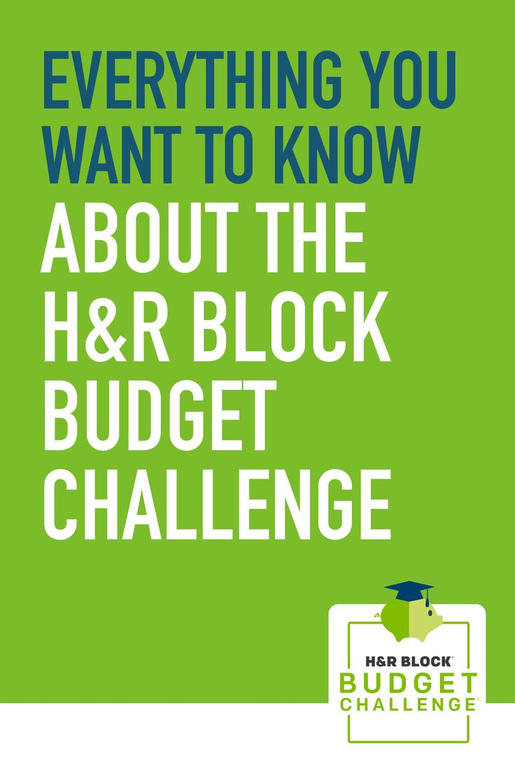 Introducing the H&R Block Budget Challenge! #education #scholarships #highschool