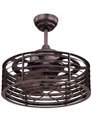 a simpler caged ceiling fan and no lights but still pretty awesome also