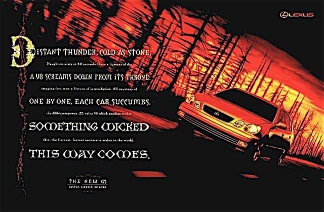 """Got to love a classic ad! Sometimes more """"recent classics"""" are even more fun! #Lexus #LAcarGUY"""