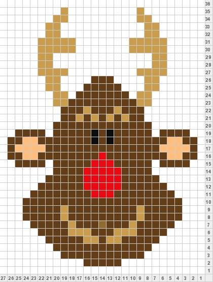 Reindeer Knitting Pattern Chart : xmas reindeer Colorwork knitting patterns Pinterest Reindeer and Xmas