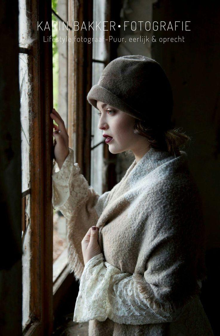 Urbex/Model photoshoot by KarinBakkerFotografie #urbex #photography #model #vintage