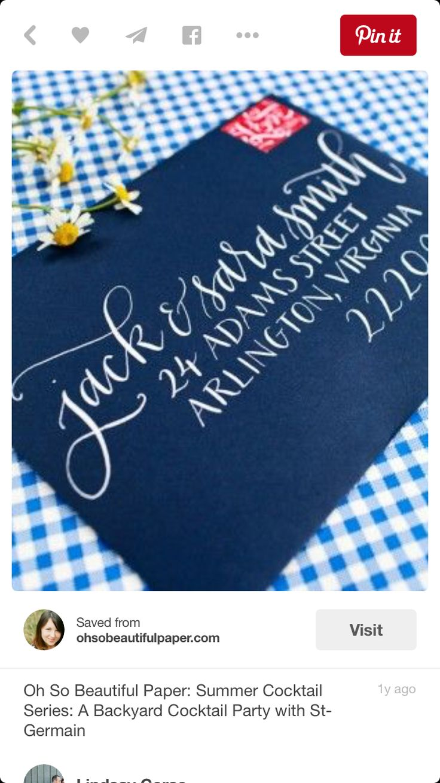 Calligraphy [envelope address]