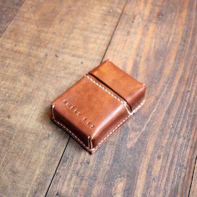 Leather cigarette box holder for smokers