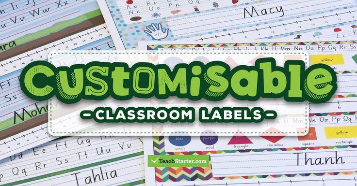 Customisable Classroom Decor Templates