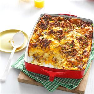 Overnight Egg Casserole Recipe -When I know I'm going to have company for breakfast, this is the dish I serve. Because you prepare it the night before, all you have to do is pop it in the oven and you're free to make the juice and toast.