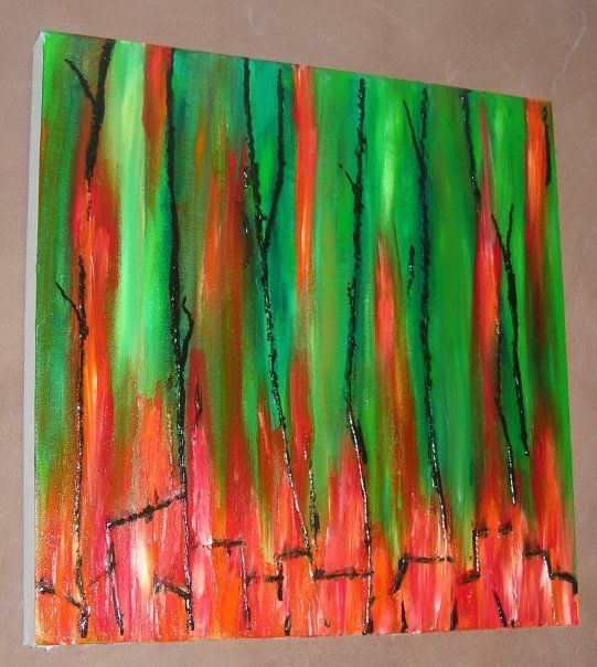 THE VINES - original abstract acrylic by Leesa