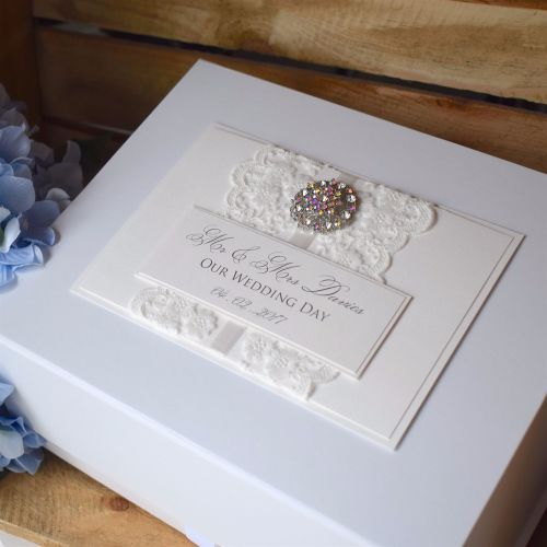 Vintage Lace Wedding Keepsake Box