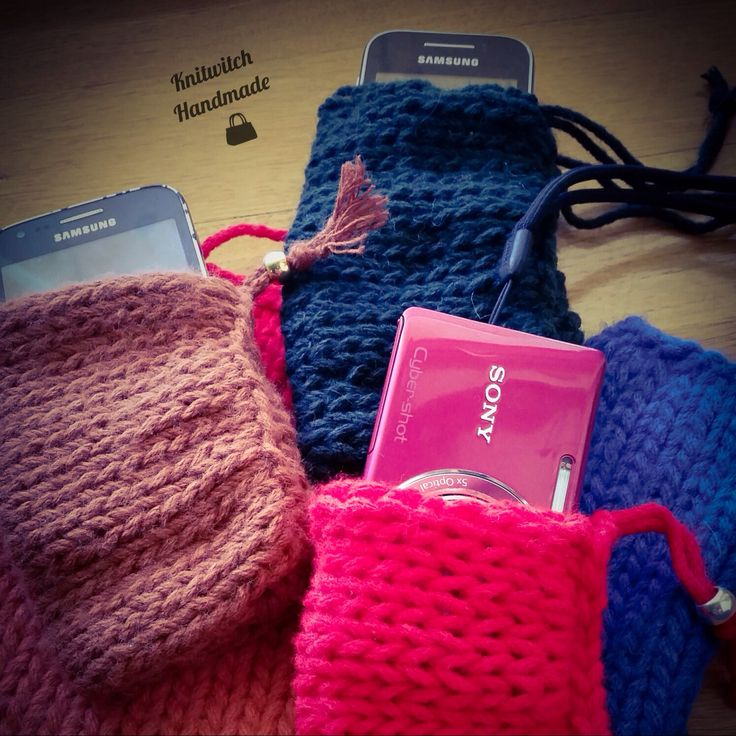 knitted cases for mobiles and more...
