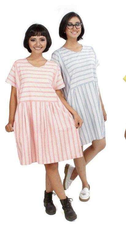 """AYUMI. Lurik loose dress.  From """"Wangun"""".  November 2014 collection."""