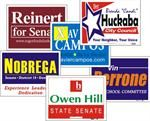 Coroplast Signs: Corrugated Plastic Signs Campaign Lawn Signs http://www.signrocket.com/yard-signs.aspx