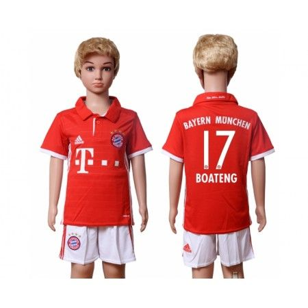 Bayern München Trøje Børn 16-17 #Boateng 17 Hjemmebanetrøje Kort ærmer.199,62KR.shirtshopservice@gmail.com