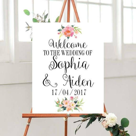 Wedding Welcome Sign printable, Welcome to The Wedding Sign, Custom sign, Wedding Printables, Printable Sign