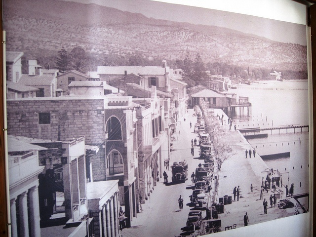 Old photo of Larnaca seafront, Cyprus