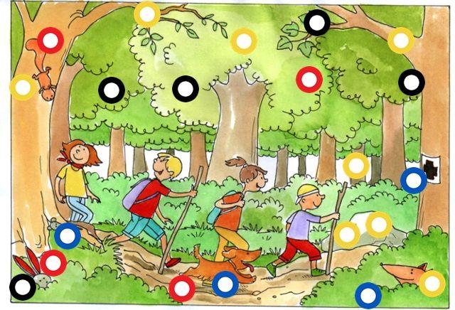 Interactieve praatplaat Naar het bos. met verhalen, liedjes, school tv, ...  by Paula Prevoo
