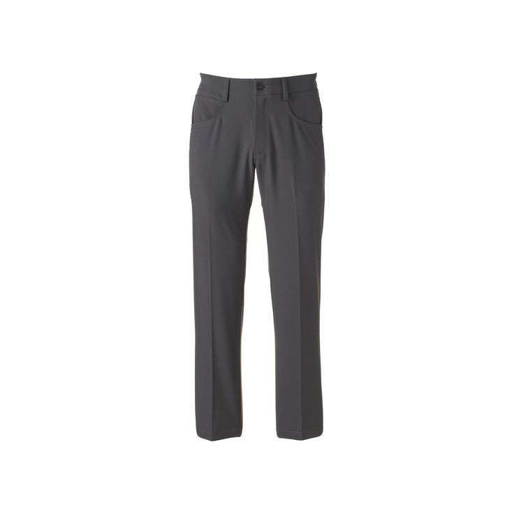 Men's Lee Straight-Fit 5-Pocket Stretch Pants, Size: 42X30, Grey Other