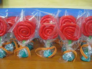 Roses amb plastilina