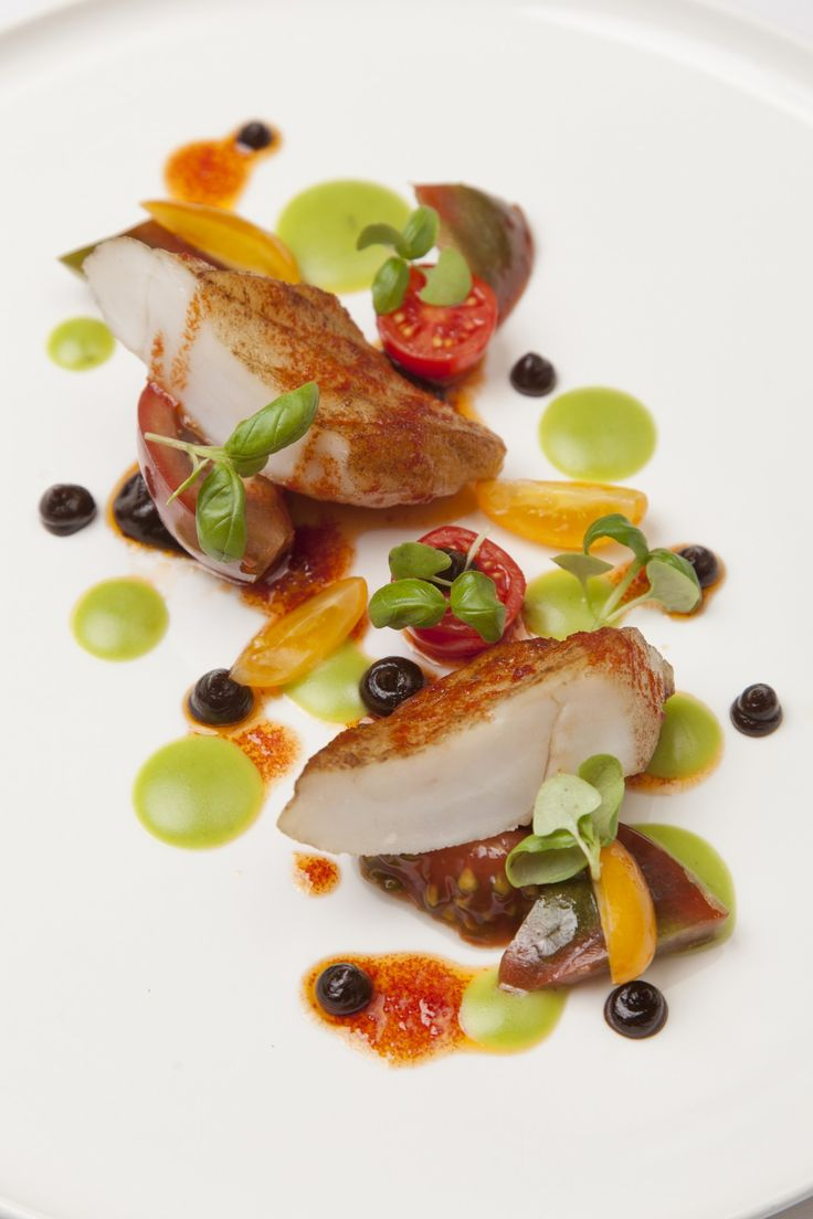 Dorset turbot with tomato basil. This looks so delicious. One of the plates featured in Burnt, the new film about love, food and second chances starring Bradley Cooper as Chef Adam Jones. In theaters Oct. 23!