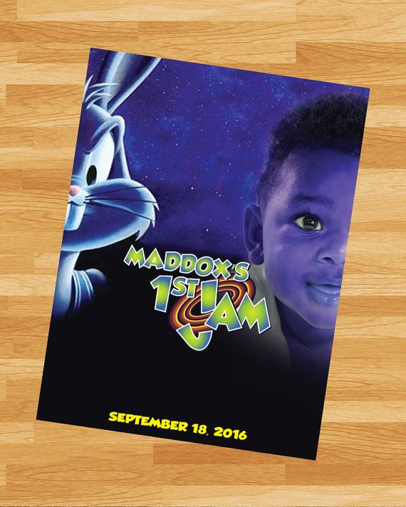 PRINTABLE Space Jam Poster LoonyToons by NoteworthyCreative