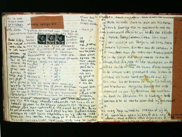 Extracts from the diary of Anne Frank