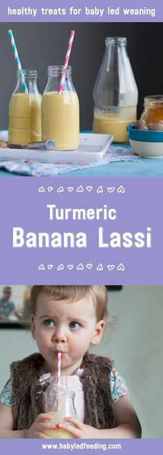 A delicious blend of banana, turmeric and milk which can also be frozen to become a perfect teething recipe for baby led weaning.