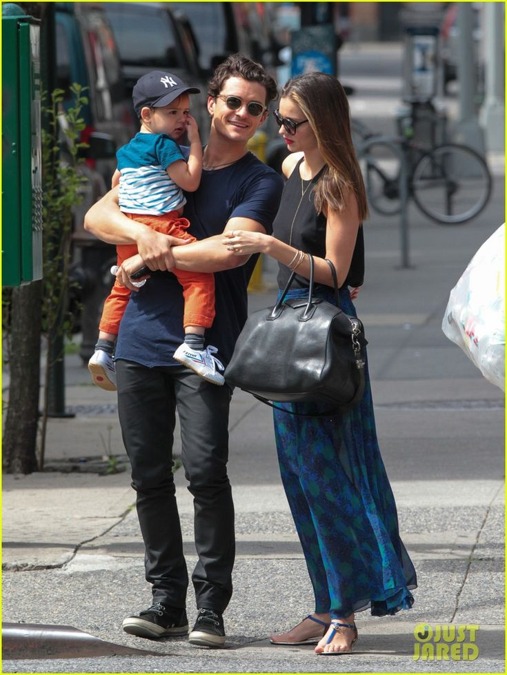 Miranda Kerr and Orlando Bloom have a family day with their son Flynn on July 13, 2013