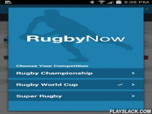 Rugby Live Scores - Rugby Now  Android App - playslack.com ,  The lightning fast FREE live scores app for all major international rugby.Get all your rugby updates on the go, including:* Instant score updates and scorers.* The latest news, odds, winning streak and tipping trends for every game.* Watch expert video previews, and video match reports.* Stay up-to-date with all of your rugby news, preview, highlights and analysis videos.* Competition ladders and win/loss history for teams.* Enter…