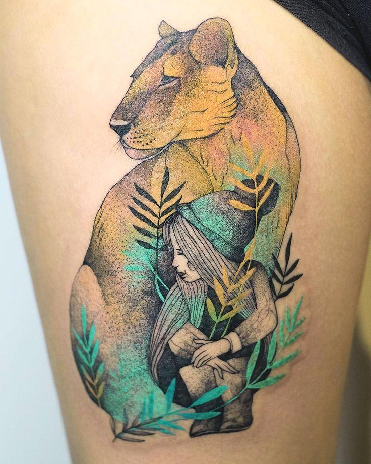 Something different ✨❤️ but still cat. tattoo by @dzo_lama