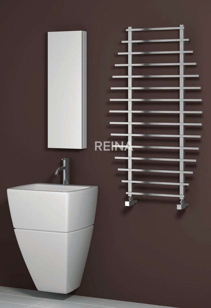 Dual fuel bathroom towel radiators - The Reina Enna Stainless Steel Heated Towel Rail Is Available In A Polished Or Brushed Stainless