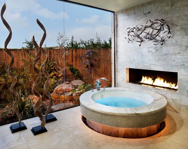 Gas Fireplace | Garden Tub | Picture Window | Marble Wall