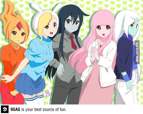 adventure time anime   9GAG - Adventure Time (Anime Version)