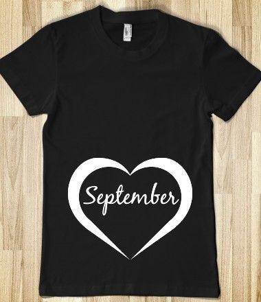 September Pregnant Shirt, pregnancy reveal