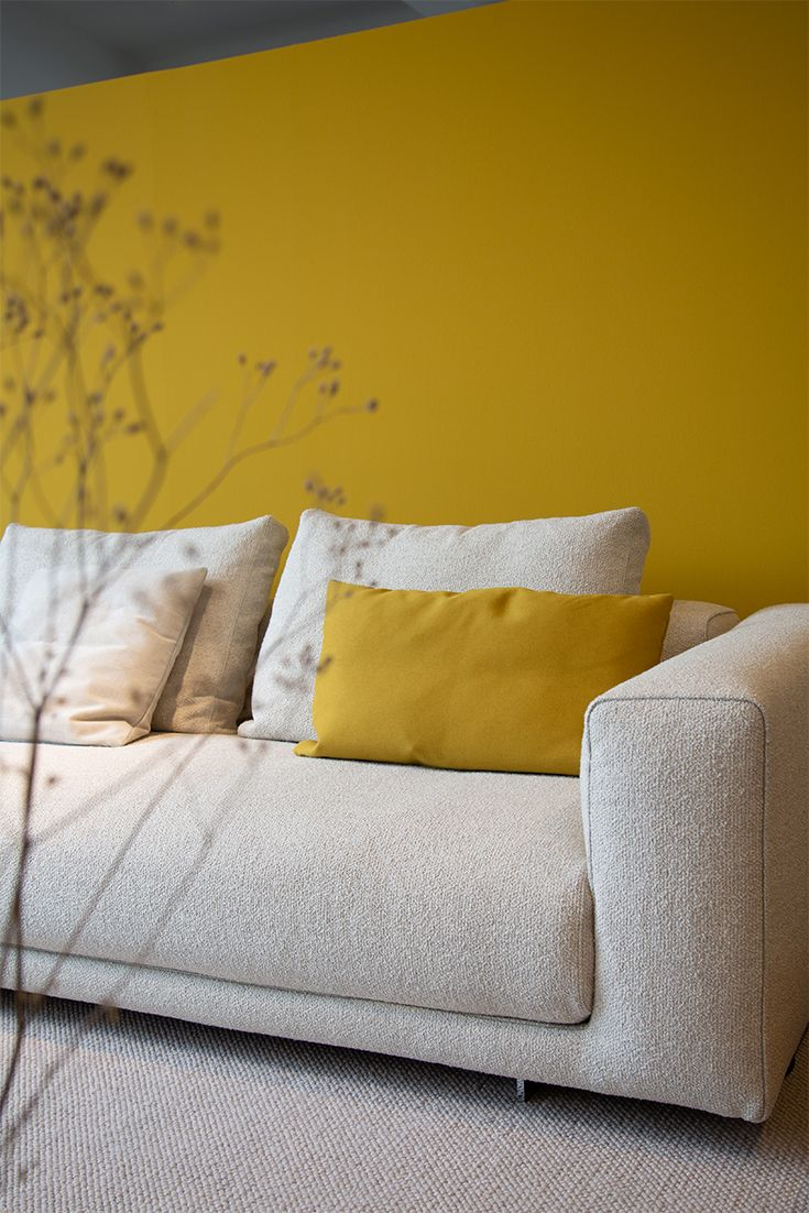 Yellow Schlafsofas Yellow Mood - Surround Yourself With Shades Of Sun And Ray Of Light. Makes You Feel The Summer Vibes Troughout The Year. | #inter… In 2020 | Lounge Design, Sofa, Möbelstück