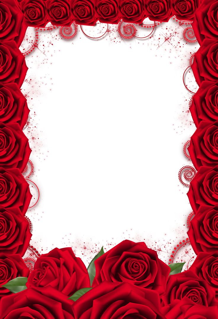 Рамки для фото с розами нас есть