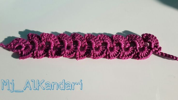 Crochet bracelet for my cousin ❤